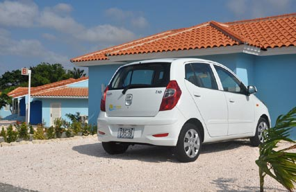 Accommodation at Blue Bay Curacao along with renatl car