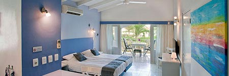 Comfortable lodges on Blue Bay Resort, centrally located on Curacao